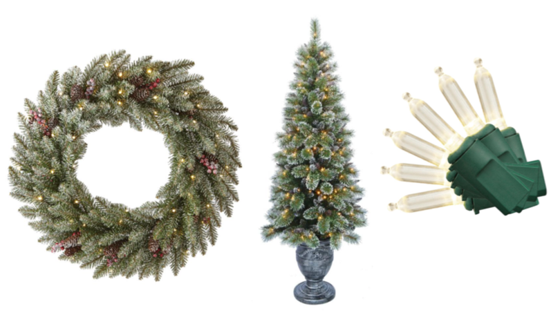 The home depot christmas trees decorations lights and for Home depot christmas decorations
