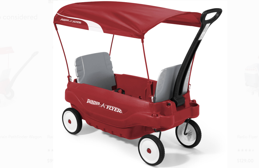 Walmart Radio Flyer Deluxe Family Wagon With Canopy Only